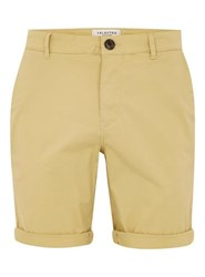 Selected Homme Yellow Chino Shorts