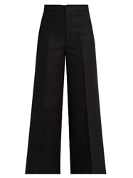 Isabel Marant Steve Wide Leg Cropped Trousers Black