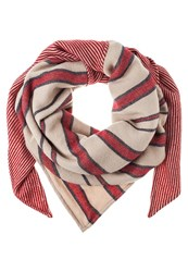 S.Oliver Scarf Brown Placed Print