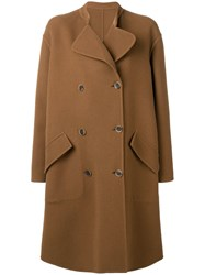 Ports 1961 Classic Coccon Coat Brown