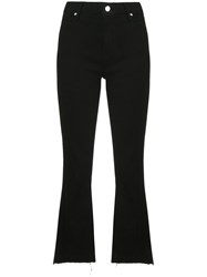 Rta Flared Cropped Jeans Black