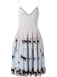 Holly Fulton Printed Pleated Dress