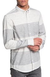 Quiksilver Minoo Valley Striped Shirt Iron Gate Marble Neppy