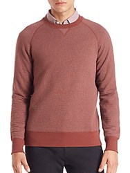 Billy Reid Quilted Sweater Brick Red