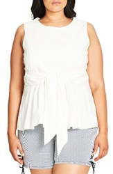 City Chic Plus Size Women's Tusan Peplum Top