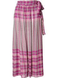 Apiece Apart Midi Wrap Skirt Pink Purple