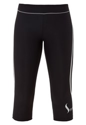 Casall 3 4 Sports Trousers Silvercoloured Black