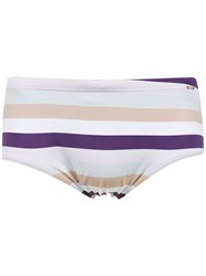 Amir Slama Striped Swim Briefs Pink And Purple