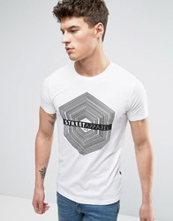 Solid T Shirt With Street Apparel Print 0001 White