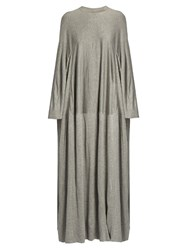 Balenciaga Round Neck Jersey Maxi Dress Grey
