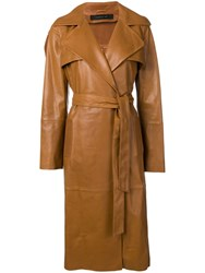 Federica Tosi Belted Trench Coat Brown