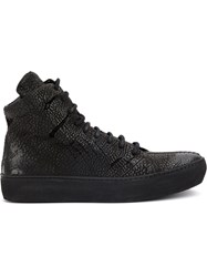 The Last Conspiracy Side Zip Ankle Boots Leather Rubber Black