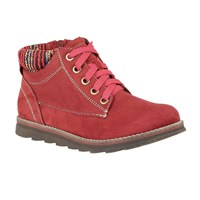 Lotus Sequoia Lace Up Ankle Boots Raspberry