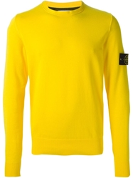Stone Island Crew Neck Sweater Yellow And Orange