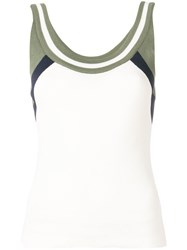 Drome Scoop Neck Knitted Top White