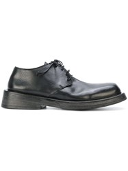 Marsell Chunky Sole Derbys Leather Rubber Black