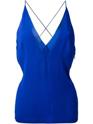 Dion Lee Sheer Trim Camisole Blue