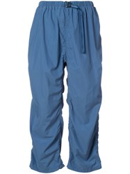 Undercover Ruched Cropped Trousers Women Nylon 1 Blue