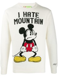 Mc2 Saint Barth Mickey Mouse Jumper White