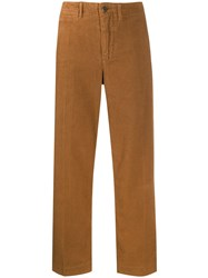 Bellerose Pape Cropped Trousers Brown