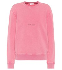 Saint Laurent Cotton Sweatshirt Pink