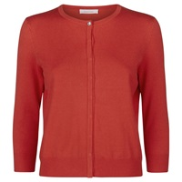 Kaliko Grosgrain Trim Cardigan Bright Red