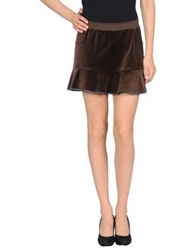 Blumarine Beachwear Mini Skirts Dark Brown