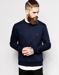 Farah Vintage Sweatshirt With F Logo Navy