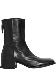 Givenchy 40Mm Studs Leather High Boots Black