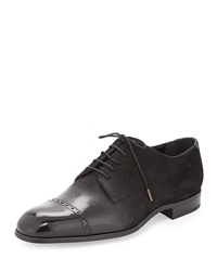 Jimmy Choo Prescott Cap Toe Lace Up Shoe Black