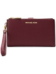 Michael Michael Kors Adele Leather Smartphone Wallet Red