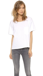 Oak Slouch Pocket Tee White