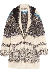 Chloe Oversized Chunky Knit Cotton Blend Cardigan Cream