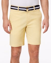 Club Room Men's Classic Fit Stretch Shorts Created For Macy's Tortilla