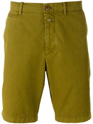 Closed Casual Chino Shorts Men Cotton 36 Green
