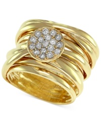 Effy Collection D'oro By Effy Diamond Pave Set Wrap Ring 1 3 Ct. T.W. In 14K Gold