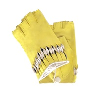Thomasine Gloves Milan Mitaine Twisted Wrist Deco Yellow Yellow Orange