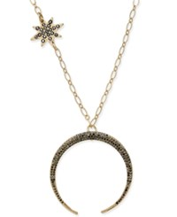Inc International Concepts Gold Tone Squash Blossom Pendant Necklace Created For Macy's Gold Multi