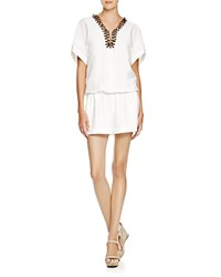Twelfth St. By Cynthia Vincent Twelfth Street By Cynthia Vincent Lace Up Romper White