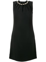 Osman Pearl Embellished Mini Dress Black