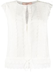 Twin Set Embroidered Sleeveless Top 60