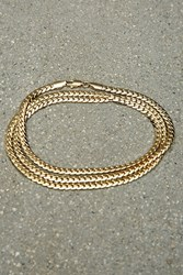 Forever 21 Vallour Curb Chain Necklace Gold