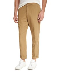 Vince Relaxed Cropped Trouser Navy