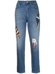 Love Moschino Sequin Embellished Mom Jeans 60