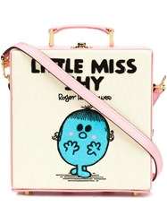 Olympia Le Tan Little Miss Shy Clutch Bag Pink Purple