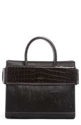 Givenchy Horizon Genuine Calf Hair And Leather Tote Black