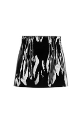 Nina Ricci Patent Leather Mini Skirt Black