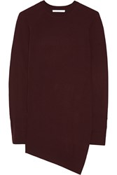 Alexander Wang Asymmetric Merino Wool Tunic Red