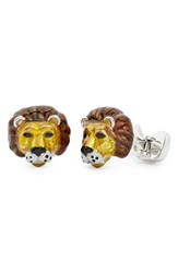 Men's Jan Leslie Lion Head Cuff Links