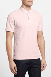 Ag Jeans Green Label 'The Links' Short Sleeve Polo Pink